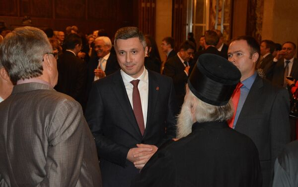 Председник Двери Бошко Обрадовић на пријему у амбасади Русије - Sputnik Србија