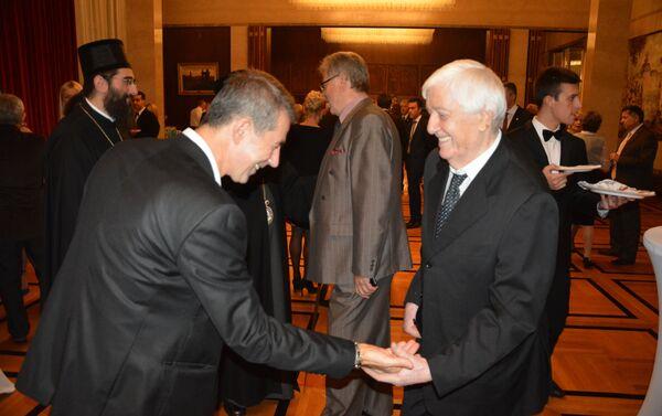 Познати српски певач Ђорђе Марјановић на пријему у амбасади Русије - Sputnik Србија