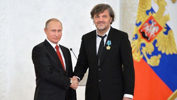 Vladimir Putin i Emir Kusturica - Sputnik Srbija