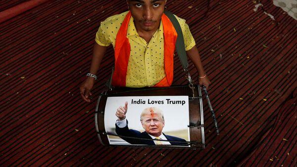 Симболично прослављање Трампове победе у Индији - Sputnik Србија