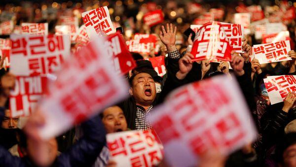 Protest protiv vlasti u Južnoj Koreji - Sputnik Srbija