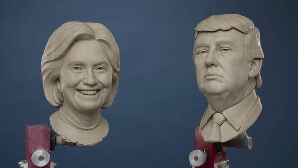 Spremni za muzej: statue Hilari Klinton i Donalda Trampa - Sputnik Srbija