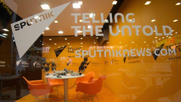 Predstavljanje agencije Sputnjik na sajmu u okviru 20. Međunarodnog ekonomskog foruma u Sankt Peterburgu - Sputnik Srbija