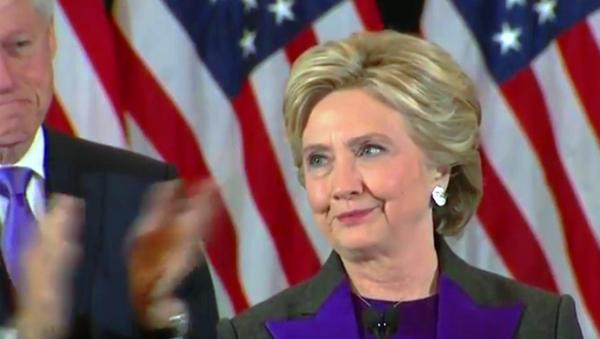 Hilari Klinton se obraća nakon poraza na izborima - Sputnik Srbija