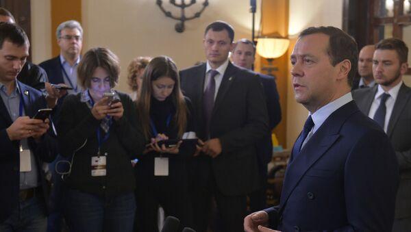 Премијер Русије Дмитриј Медведев током посете Израелу - Sputnik Србија