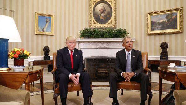 Donald Tramp i Barak Obama - Sputnik Srbija
