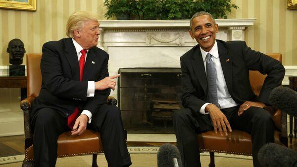 Доналд Трамп и Барак Обама у Белој Кући - Sputnik Србија