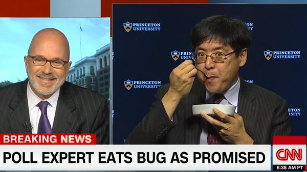 Politikolog pojeo cvrčka na Si-En-Enu zbog pogrešne procene - Sputnik Srbija