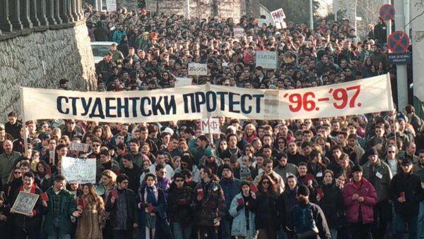 Studentki protesti 1996-1997. godine u Beogradu. - Sputnik Srbija