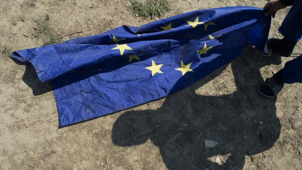 Zastava EU na podu - Sputnik Srbija