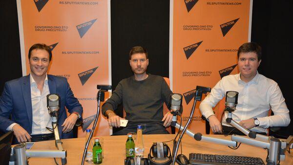 Marko Milačić, Ivan Pernar i Boris Malagurski u studiju Sputnjika - Sputnik Srbija