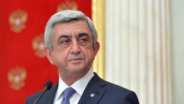 Predsednik Jermenije Serž Sargsjan - Sputnik Srbija