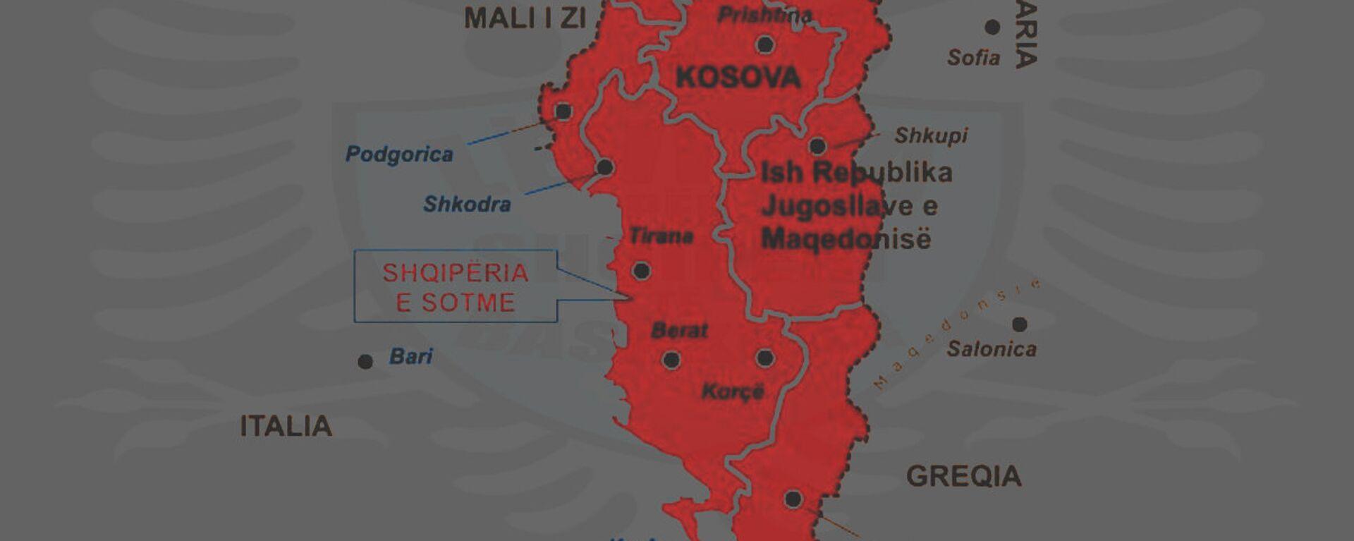 Karta Velike Albanije - Sputnik Srbija, 1920, 11.10.2021