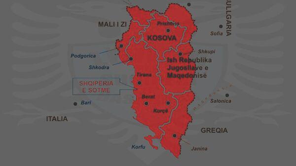 Karta Velike Albanije - Sputnik Srbija