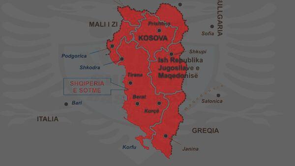 Карта Велике Албаније - Sputnik Србија