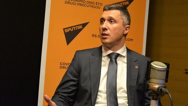 Председник Двери Бошко Обрадовић - Sputnik Србија