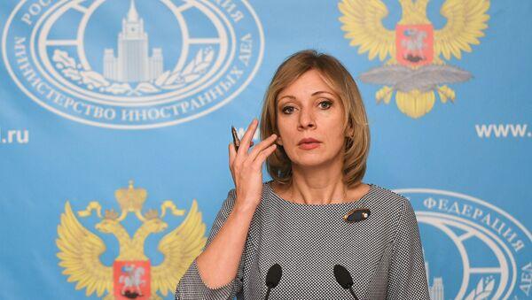Portparol Ministarstva spoljnih poslova Rusije Marija Zaharova tokom redovne konferencije za medije - Sputnik Srbija