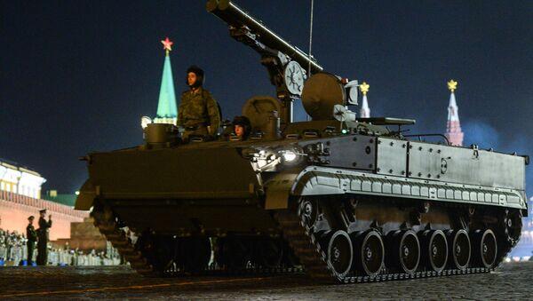 Противотанковый ракетный комплекс Хризантема-С во время репетиции Парада Победы на Красной площади - Sputnik Србија