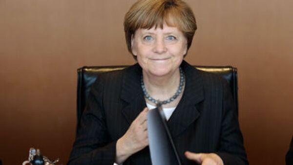 Канцлер Германии Ангела Меркель ведет еженедельное заседание Кабинета Министров ее правительства в Берлине - Sputnik Србија