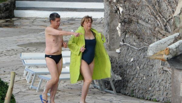 Ангела Меркель с мужем на отдыхе в Италии - Sputnik Србија