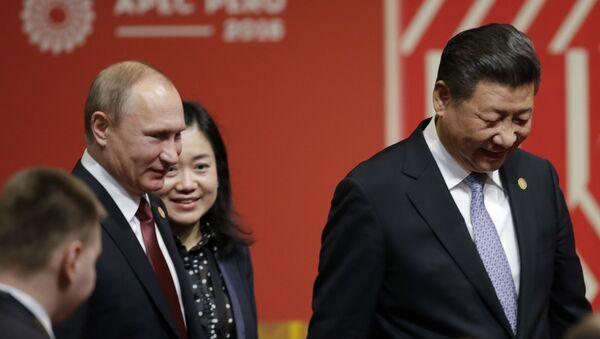 Председник Русије Владимир Путин и председник Кине Си Ђинпинг након састанка на маргинама самита Азијско-пацифичке економске сарадње у Лими - Sputnik Србија