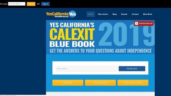 Stranica pokreta Yes California - Sputnik Srbija
