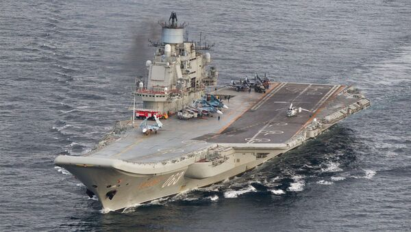 Nosač aviona Admiral Kuznjecov u međunarodnim vodama u blizini obale Norveške - Sputnik Srbija