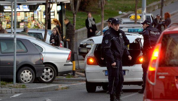 Policija na uviđaju posle ubistva migranta na Zelenom vencu, Beograd - Sputnik Srbija