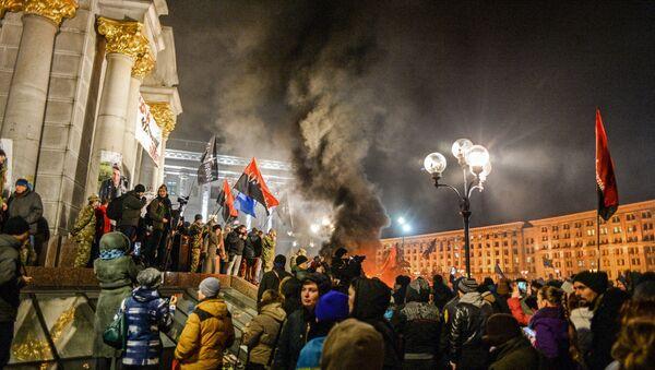 Годишњица протеста на Мајдану, Кијев, Украјина - Sputnik Србија