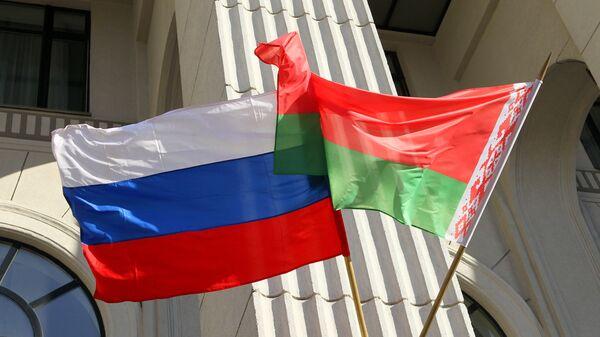 Zastave Rusije i Belorusije - Sputnik Srbija
