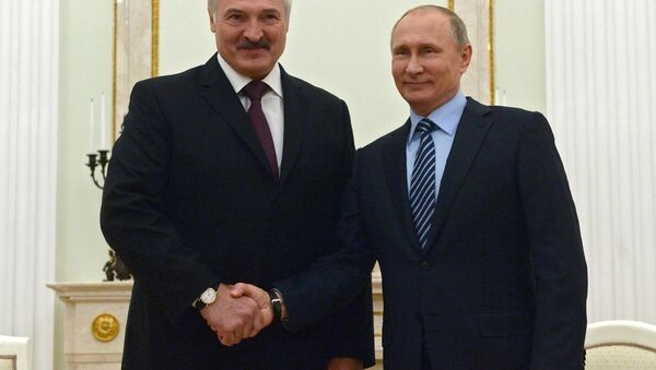 Руски председник Владимир Путин и белоруски председник Александар Лукашенко - Sputnik Србија