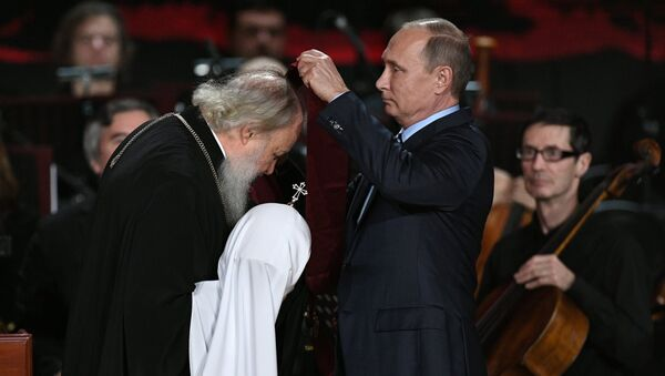 Владимир Путин и патријарх Кирил - Sputnik Србија