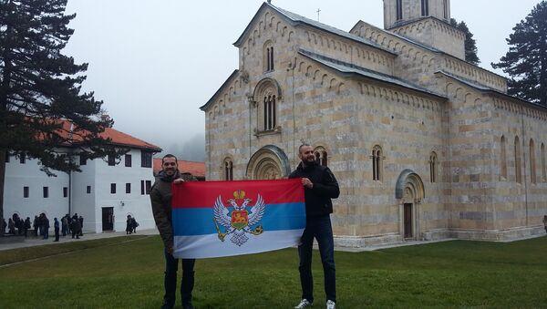 Велики број верника у манастиру Високи Дечани - Sputnik Србија