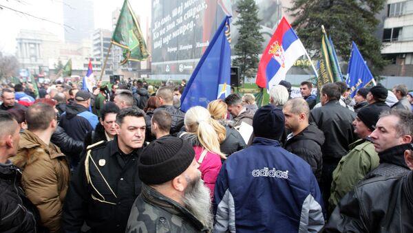 Protest vojnog sindikata - Sputnik Srbija