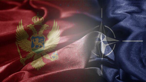 Zastave Crne Gore i NATO - Sputnik Srbija