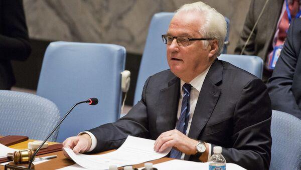 Постоянный представитель России в ООН Виталий Чуркин - Sputnik Србија