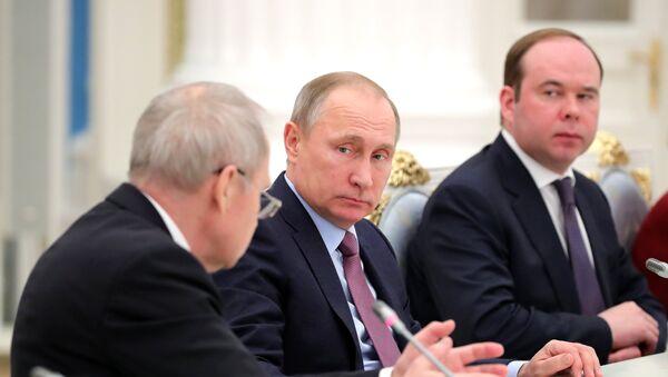 Председник Русије Владимир Путин током састанка са судијама Уставног суда РФ - Sputnik Србија