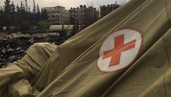 Mobilna bolnica Ministarstva odbrane Rusije u Alepu - Sputnik Srbija