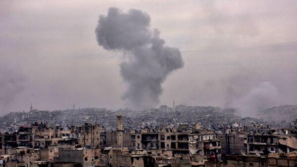 Uništene zgrade u istočnom delu Alepa - Sputnik Srbija