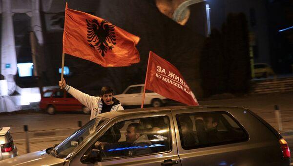 Присталице опозиције на улицама Скопља - Sputnik Србија