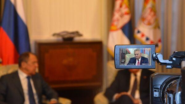 Sastanakog ruskog ministra inostranih poslova Sergeja Lavrova i srpskog predsednika Tomislava Nikolića - Sputnik Srbija