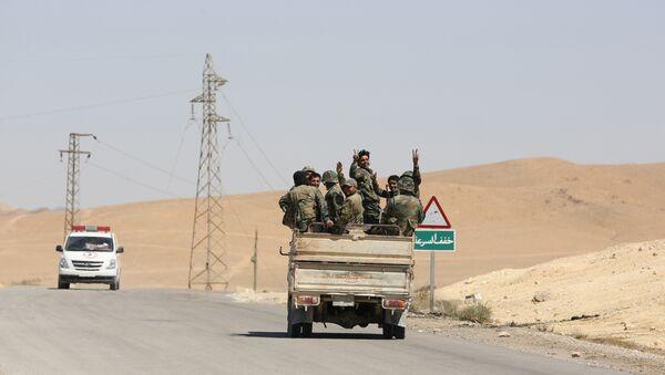 Sirijski vojnici u Palmiri - Sputnik Srbija