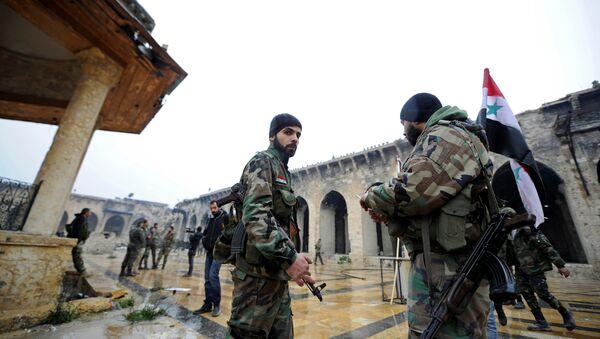 Pripadnici sirijske armije - Sputnik Srbija