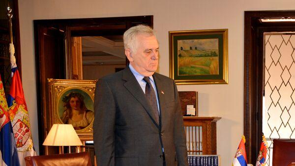 Томислав Николић у свом кабинету - Sputnik Србија