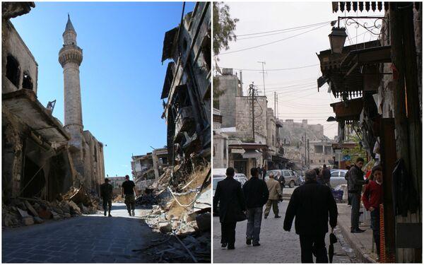 Ожиљци ратом разореног Алепа: Пре и после - Sputnik Србија