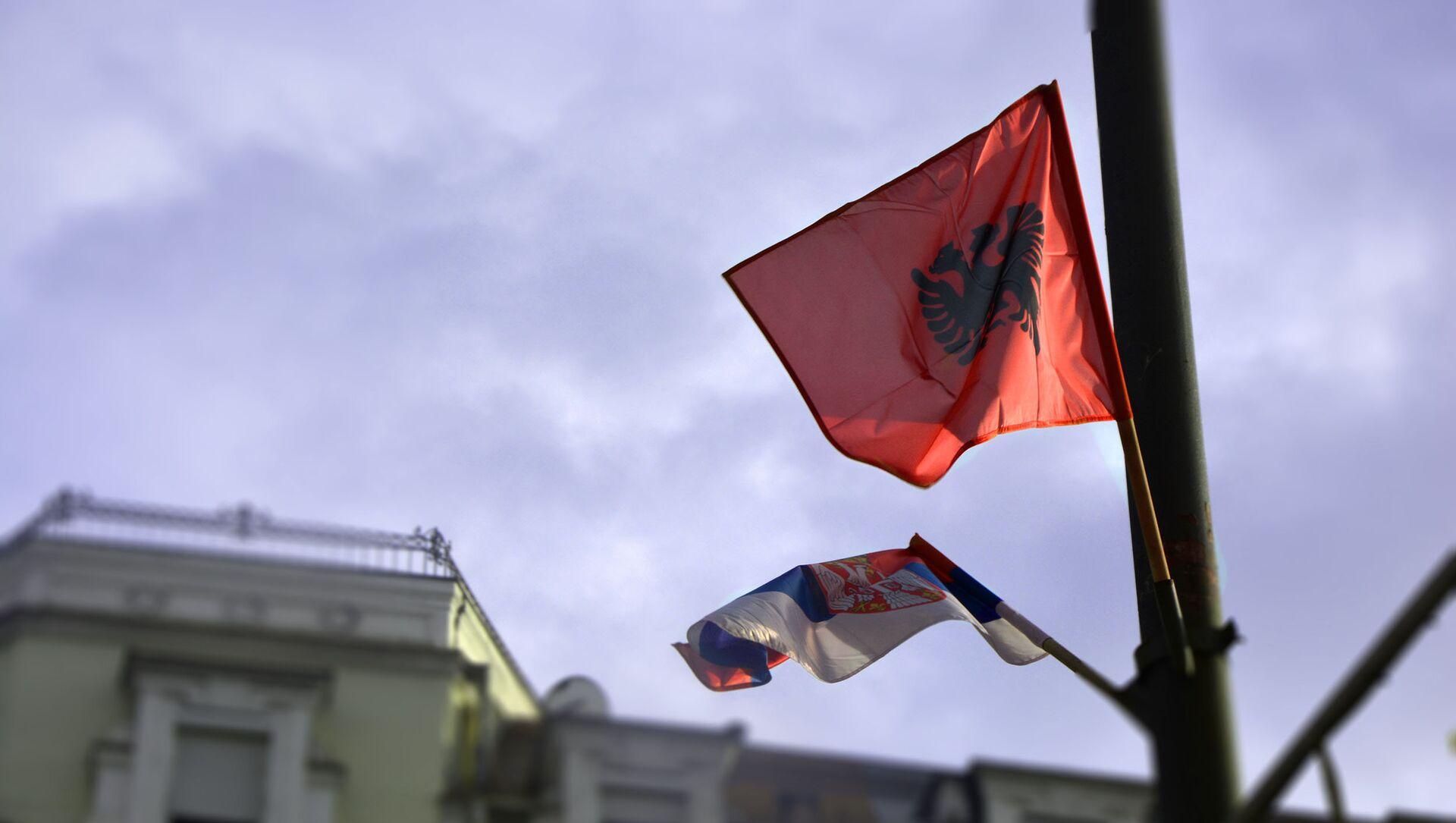 Заставе Србије и Албаније - Sputnik Србија, 1920, 21.05.2021