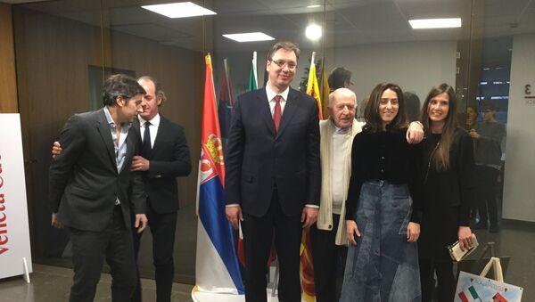 Премијер Србије Александар Вучић у званичној посети Италији - Sputnik Србија