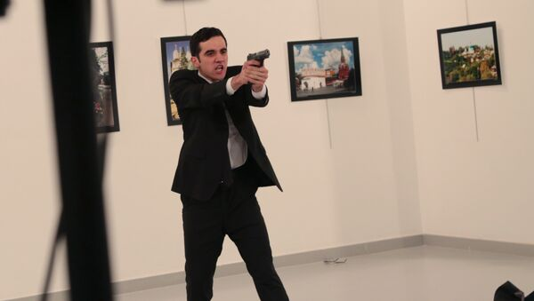 Čovek koji je napao ruskog ambasadora Andreja Karlova u Ankari, Turska - Sputnik Srbija
