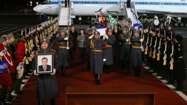 Поворка у Москви са телом руског амбасадора у Турској Андреја Карлова, убијеног у Анкари 19. децембра - Sputnik Србија