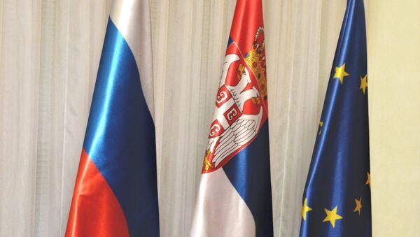 Заставе Русије, Србије и ЕУ - Sputnik Србија